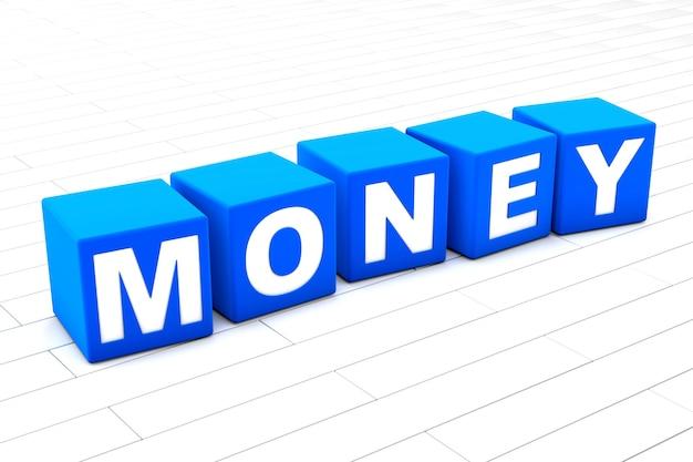 Ilustracja słowo pieniądze