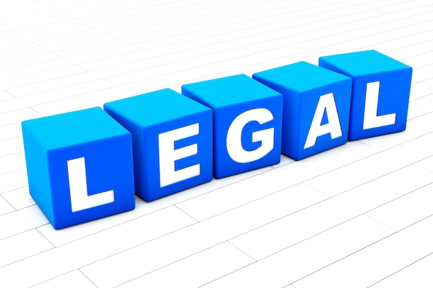 Ilustracja słowo prawne