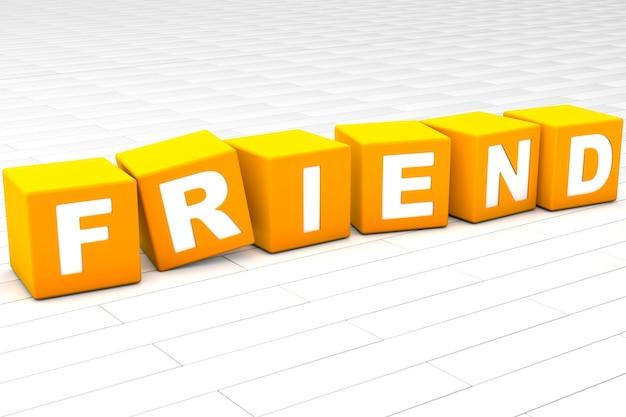Ilustracja słowo przyjaciela