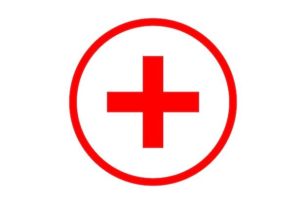 Ilustracja symbolu czerwonego krzyża