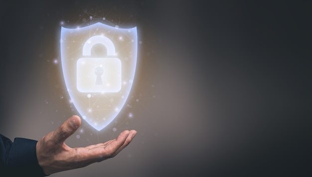 Ilustracja symbolu, zamka, zamka i systemu bezpieczeństwa