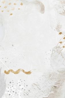 Ilustracja tła społecznego neo memphis w białym odcieniu