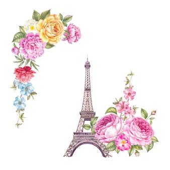 Ilustracja wieży eiffla.