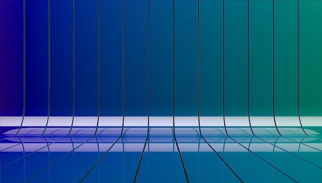 Ilustracja wstążki kolor c neon.