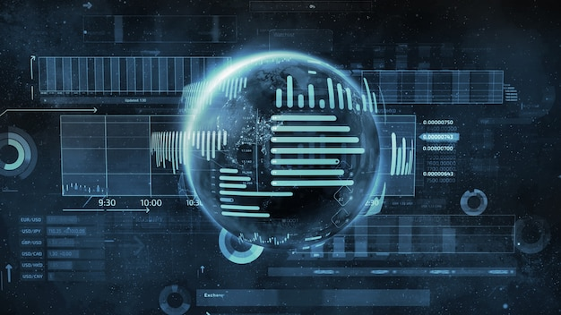 Ilustracja z planety i biznesu infografiki