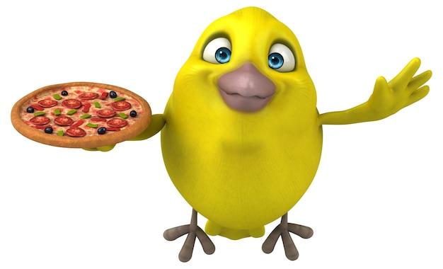 Ilustracja zabawny ptak