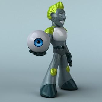 Ilustracja zielony robot