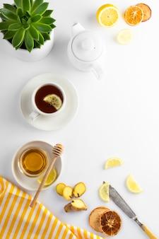 Imbirowa herbata z cytryną