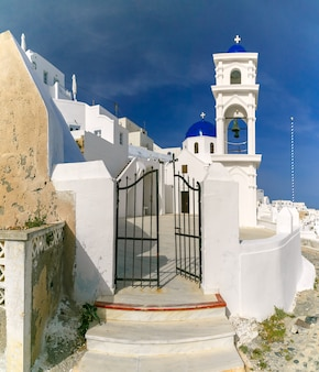 Imerovigli anastasi church of santorini, grecja