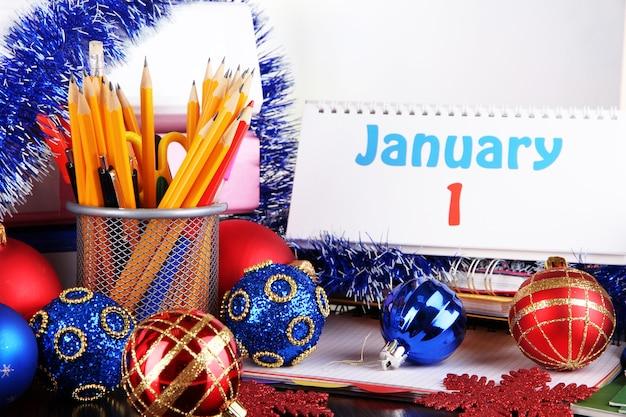 Impreza noworoczna w zbliżeniu biura