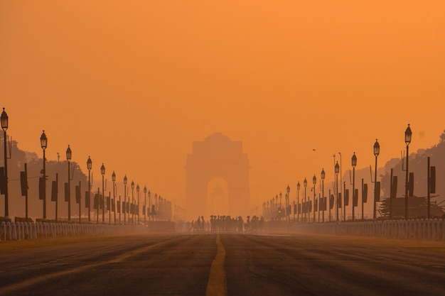 India gate mornings.