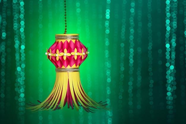 Indian festival diwali, kolorowa latarnia na festiwal diwali