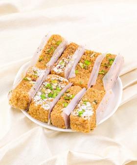 Indian sweet food gulab halwa