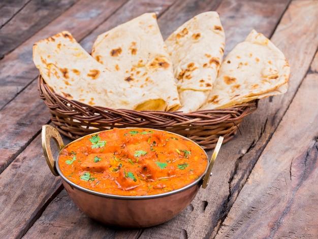 Indiańska wyśmienicie kuchnia paneer tikka masala