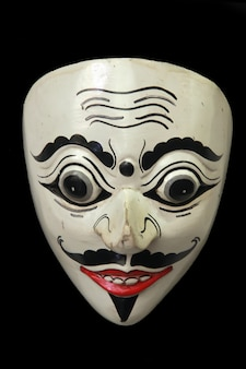 Indonezyjskie specjalne maski są często używane, gdy są pokazy sztuki