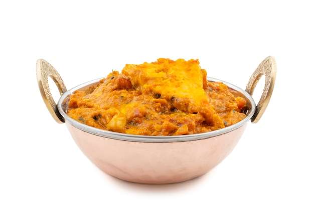 Indyjska kuchnia wegetariańska specjalna słodka i pikantna paneer pasanda