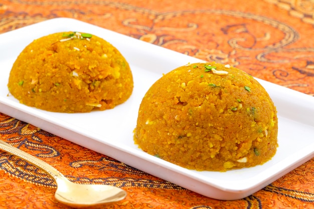 Indyjska specjalna słodka żywność halwa