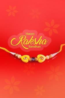 Indyjski festiwal raksha bandhan, szczęśliwy raksha bandhan w angielskiej kaligrafii