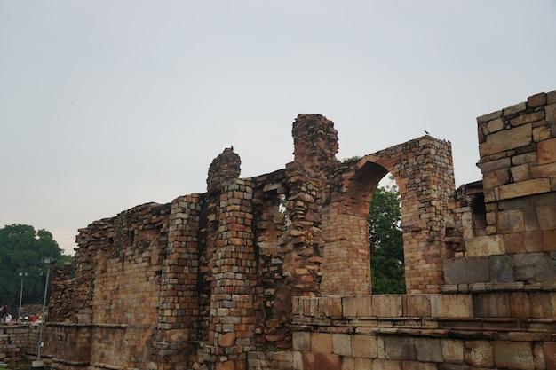 Indyjski historyczny obraz struktury starej sztuki na zewnątrz