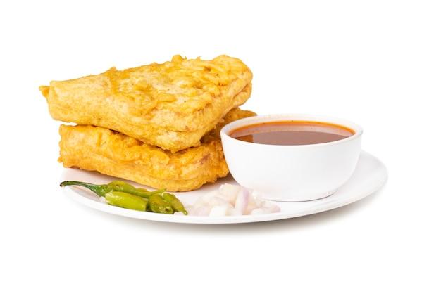 Indyjski popularny czas na herbatę przekąska chleb pakora