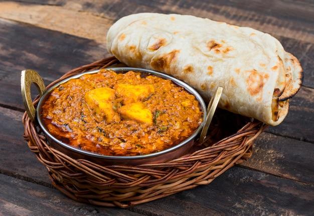 Indyjskie jedzenie kadai paneer
