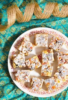 Indyjskie słodkie jedzenie bezcukrowe suche owoce