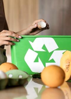Indywidualny recykling ekologicznych warzyw