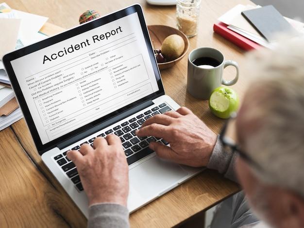 Informacje o urazach powypadkowych raport o stanie zdrowia