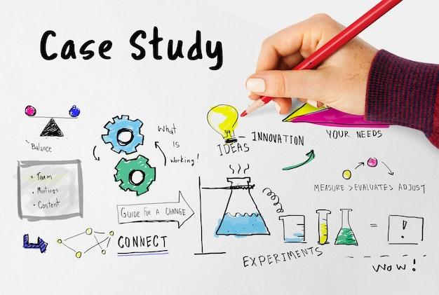 Informacje studium przypadku badania weryfikacja analiza szkic
