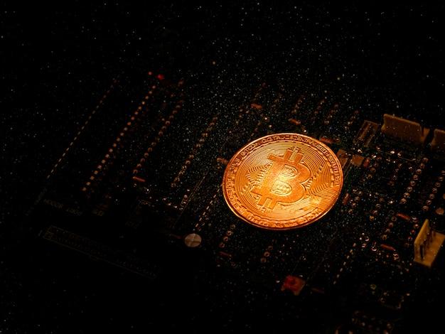 Innowacyjny efekt bitcioni cyfrowej waluty dzięki świetnemu efektowi świetlnemu.