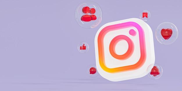 Instagram ze szkła akrylowego logo ig i ikony mediów społecznościowych z miejscem na kopię