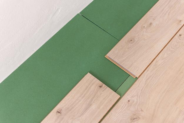 Instalacja laminatu w pomieszczeniu to przyjazne dla środowiska podłoże oraz laminat lub parkiet