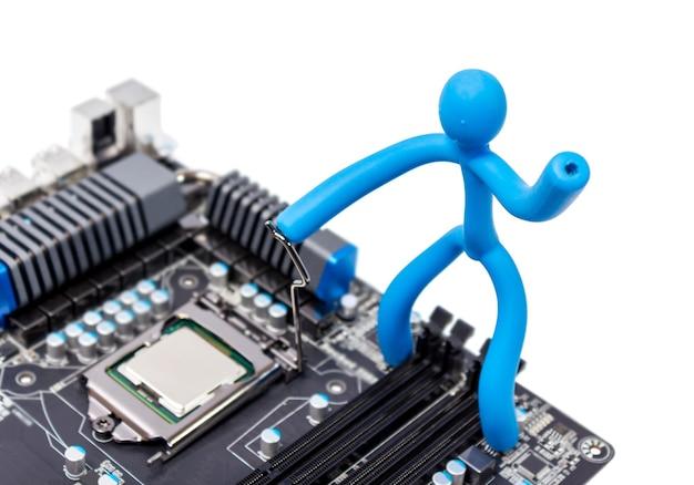 Instalacja nowoczesnego procesora w gnieździe cpu na płycie głównej