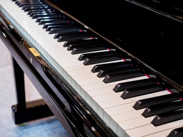 Instrument muzyczny tło klawiatury fortepianu