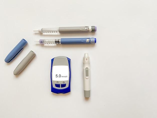 Insulina krótkie długie paski testowe do glukometru i długopis do przekłuwania palców