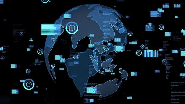 Inteligentna technologia analizy danych biznesowych abstrakcyjna wizualizator