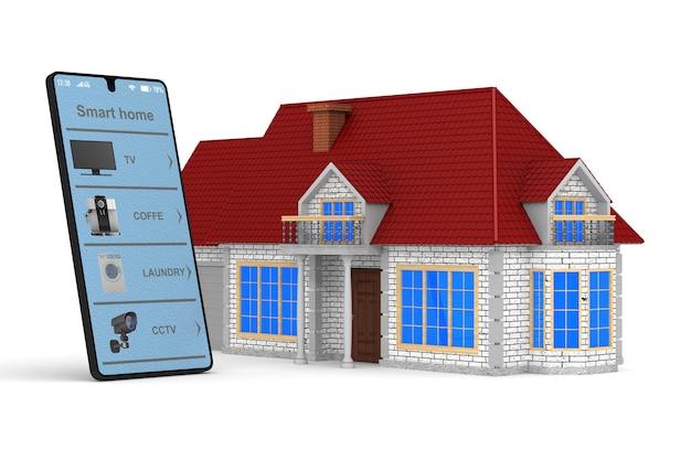 Inteligentny dom. izolowane renderowanie 3d