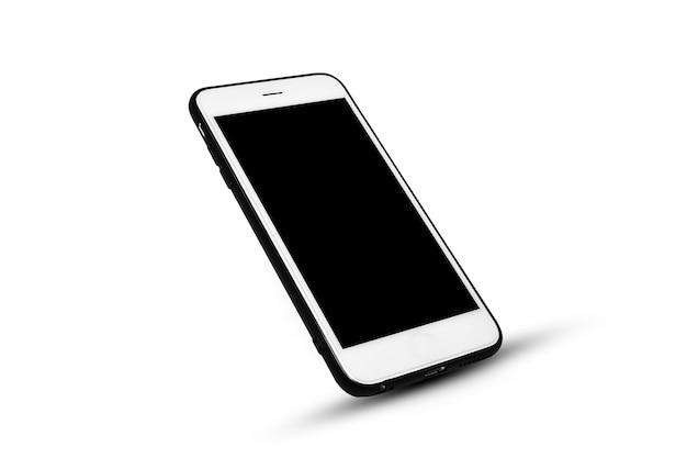 Inteligentny telefon komórkowy na białej izolacji