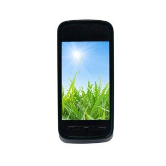 Inteligentny telefon komórkowy na białym tle