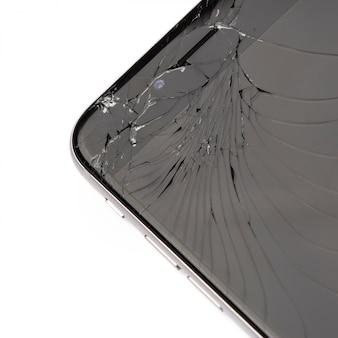 Inteligentny telefon z uszkodzonym wyświetlaczem