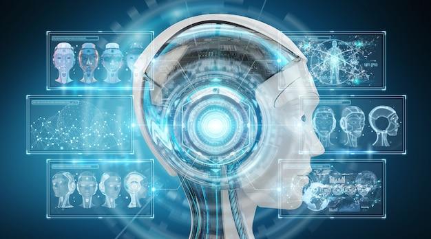 Interfejs cyborga cyfrowej sztucznej inteligencji