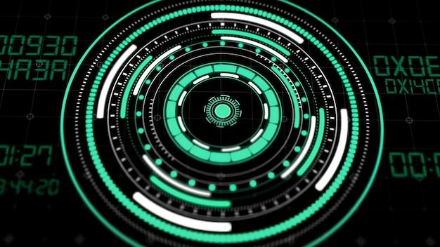 Interfejs koło hologramu