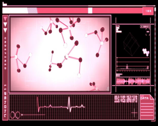 Interfejs komórek różowej cząsteczki
