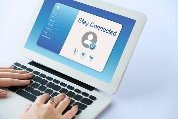 Interfejs profilu połączeń wideo online