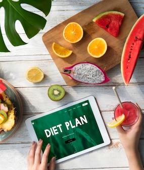 Interfejs strony internetowej zdrowego stylu życia