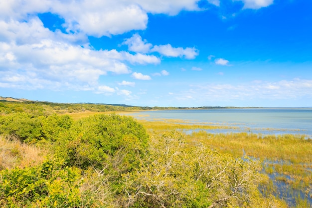 Isimangaliso wetland park landscape, republika południowej afryki
