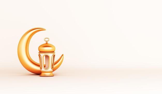 Islamska dekoracja z miejscem na kopię półksiężyca arabskiej latarni