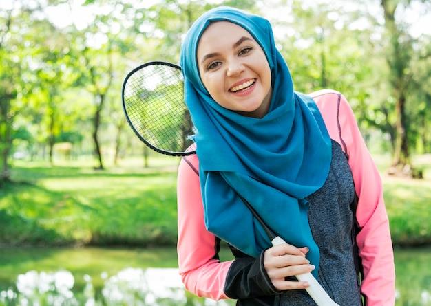 Islamska kobieta zdrowego stylu życia