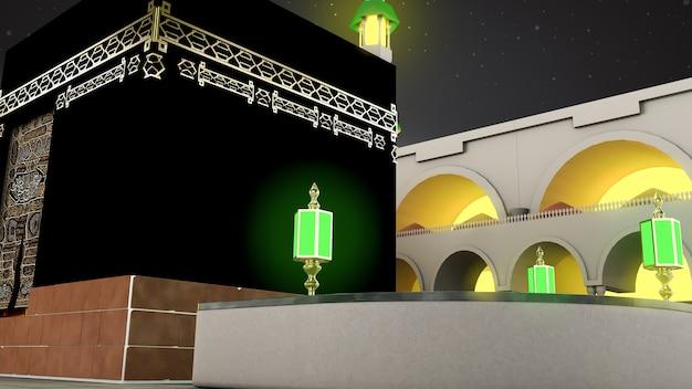 Islamska pielgrzymka do mekki eid adha mubarak realistyczny islamski meczet kaaba 02