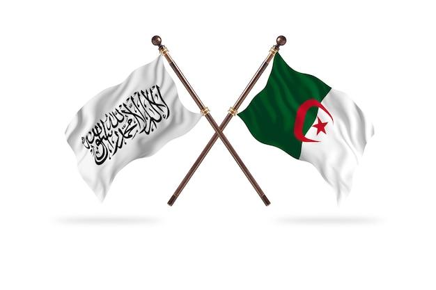 Islamski emirat afganistanu kontra algieria dwie flagi – tło